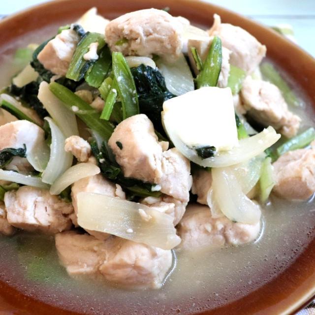 鶏ささみと野菜の塩バター炒め