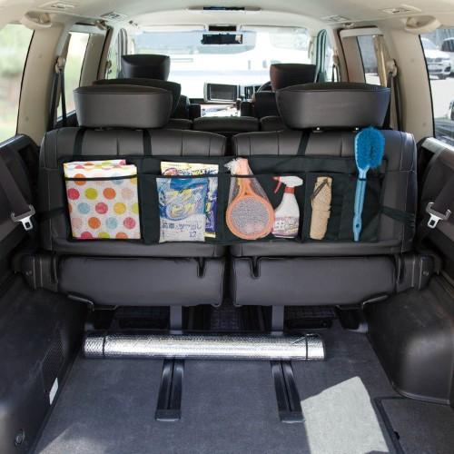 BELLE MAISON ベルメゾン 座席背面に取付けて使う収納メッシュポケット