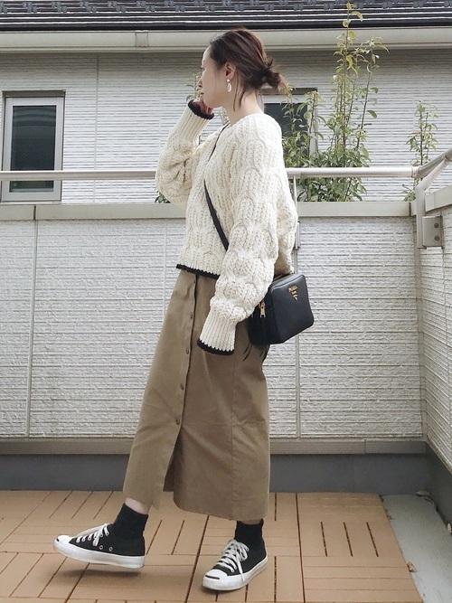 黒ソックスを使ったコーデ■スカート■【3】