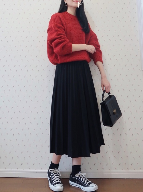 黒ソックスを使ったコーデ■スカート■【2】