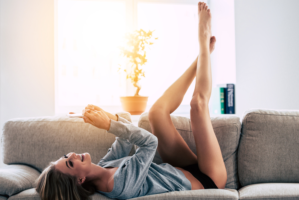 美脚の女性