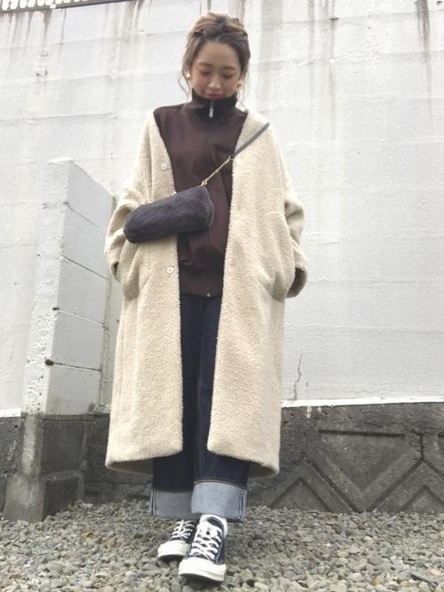 冬のジャージコーデ