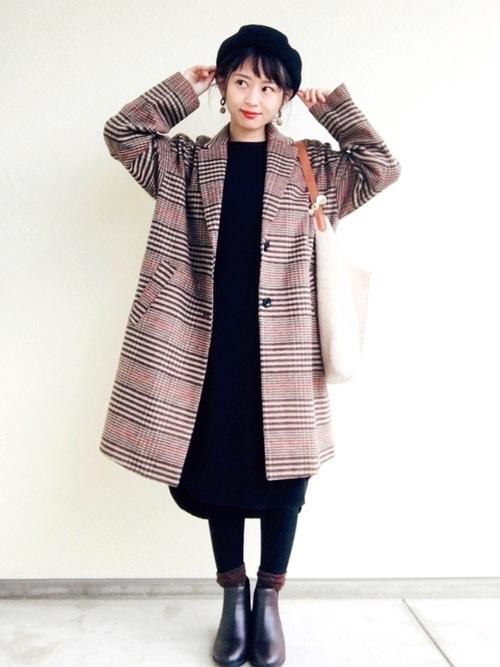 チェスターコートを使った神戸の服装