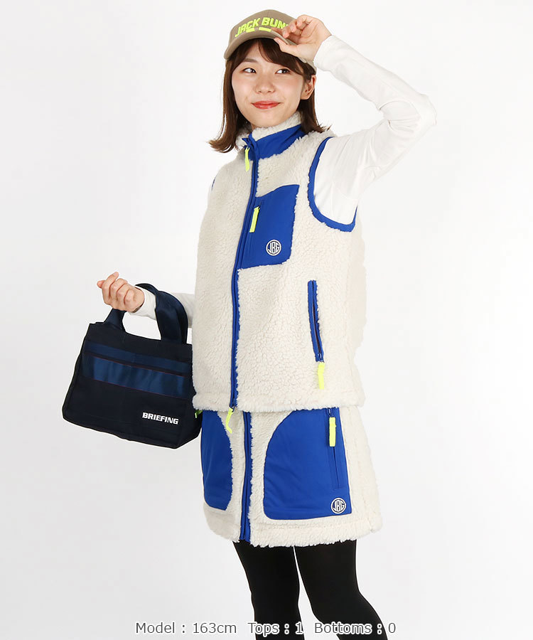 ボアベストを使った真冬ゴルフの服装