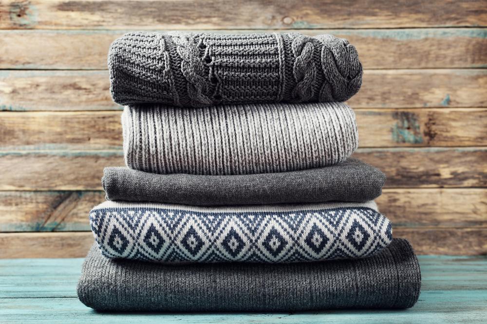 ウール素材のセーター
