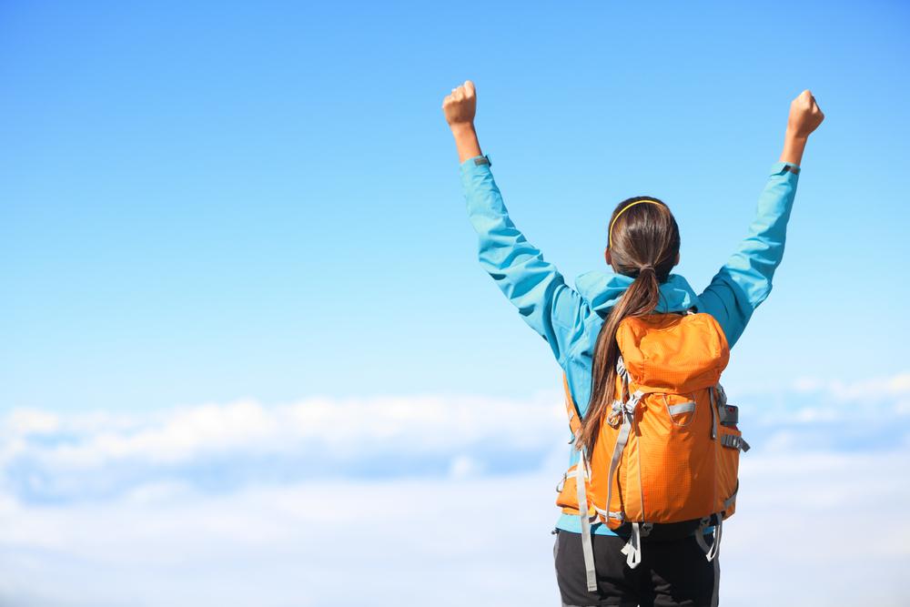 登山が趣味の女性