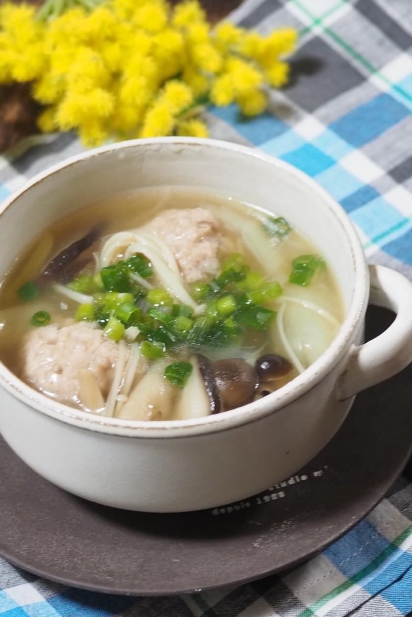 肉団子とたっぷりキノコのとろみスープ