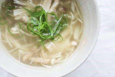 簡単☆ポカポカ☆きのこたっぷり生姜スープのレシピ