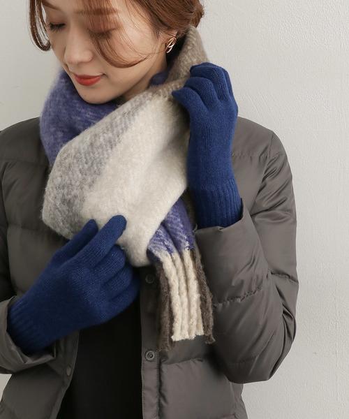 人気のデザインのニット手袋