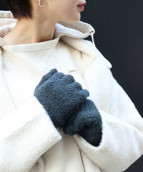人気のデザインのボア手袋