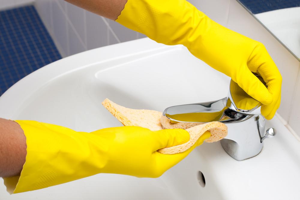 蛇口の水垢掃除