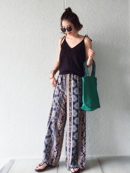 キャミソールを使ったバリ島の服装