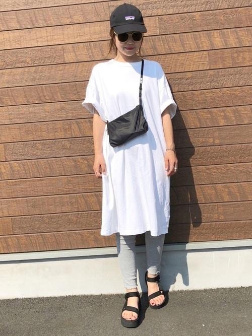 シャツワンピを使ったバリ島の服装