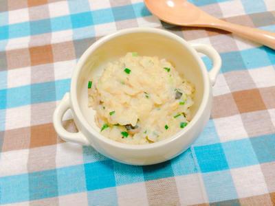 チーズがとろ〜り 鯖缶の味噌豆乳リゾットのレシピ