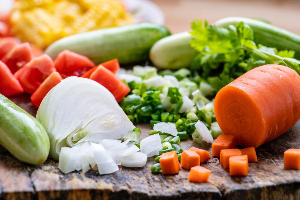 にんじんやたまねぎなどの野菜