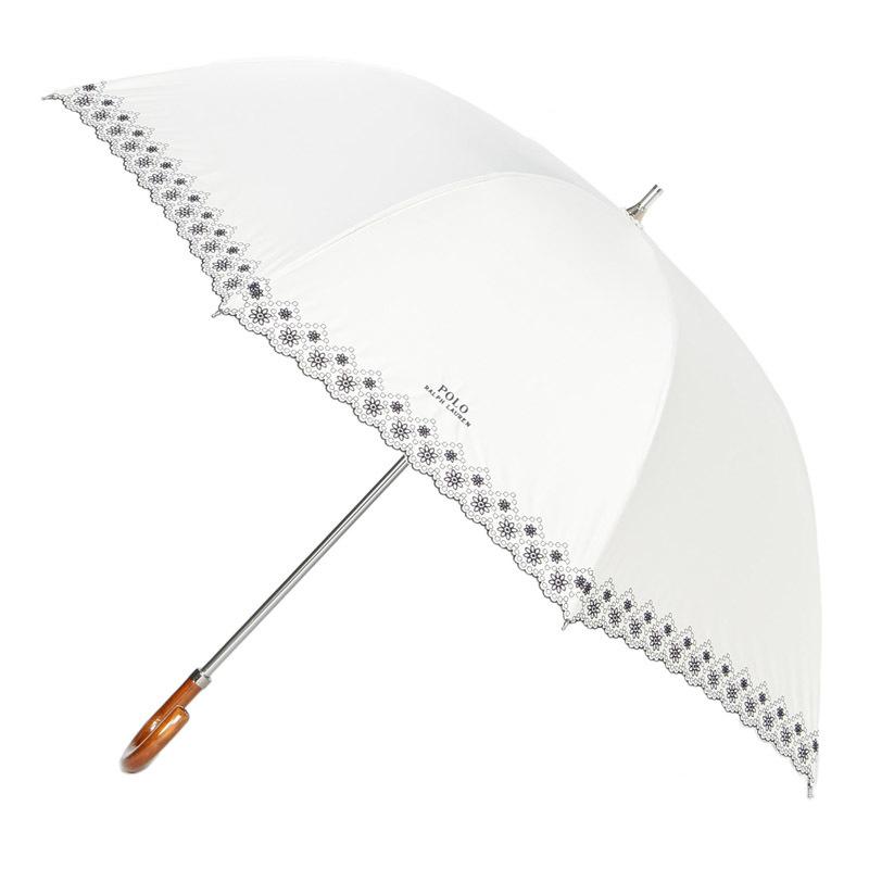 POLO RALPH LAUREN(ポロラルフローレン) 晴雨兼用長 オフホワイト ワイドサイズ