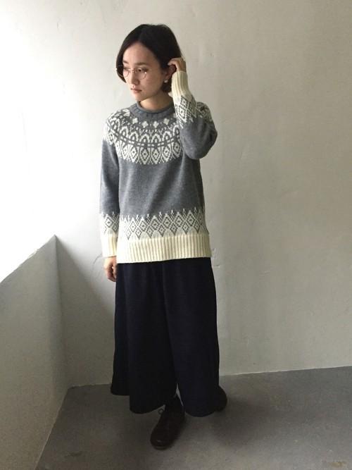 ニットを使った北欧ファッション