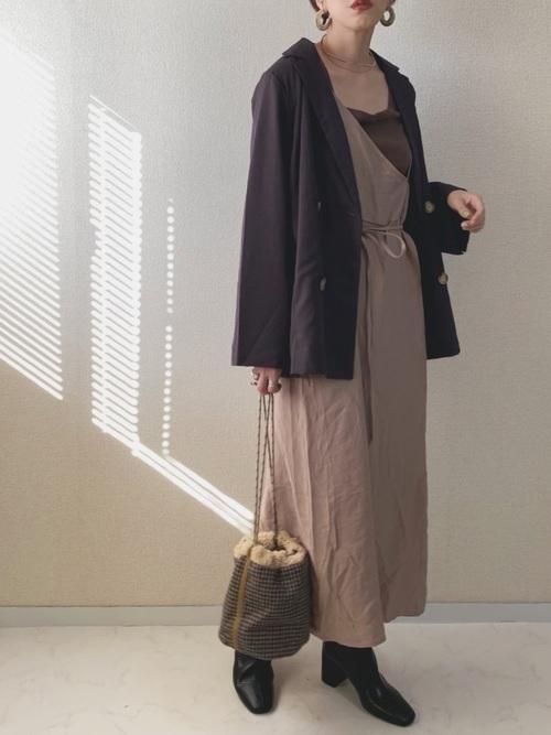 ワンショルダースカート×ジャケット
