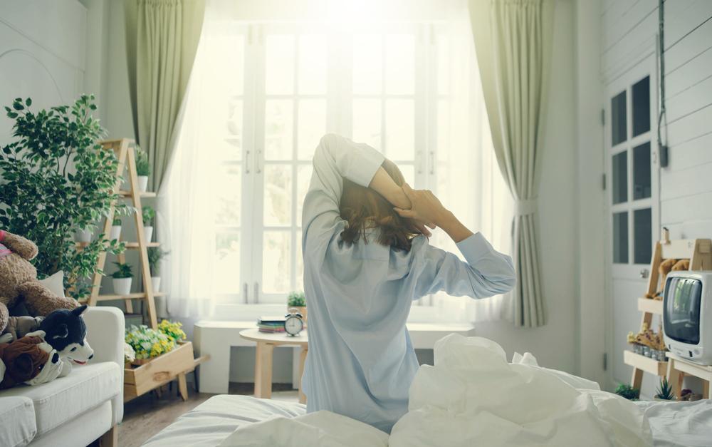 睡眠時間を確保している女性