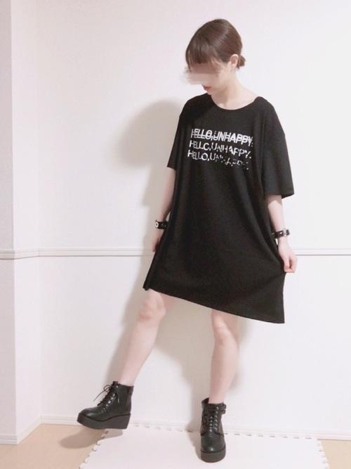 ライブTシャツを使ったビッグTシャツコーデ