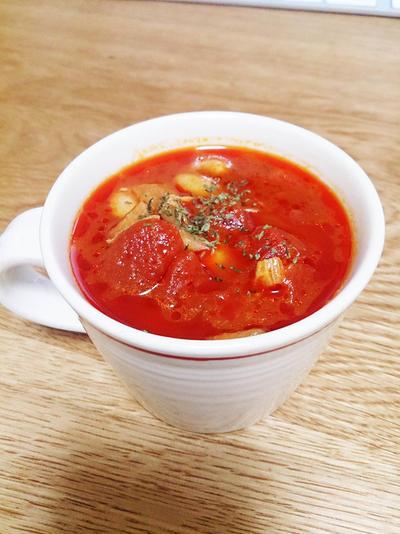 マッシュルーム香るタンパク質も取れるデトックススープのレシピ