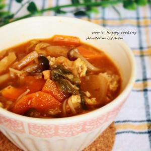 ピリ辛キムチスープのレシピ
