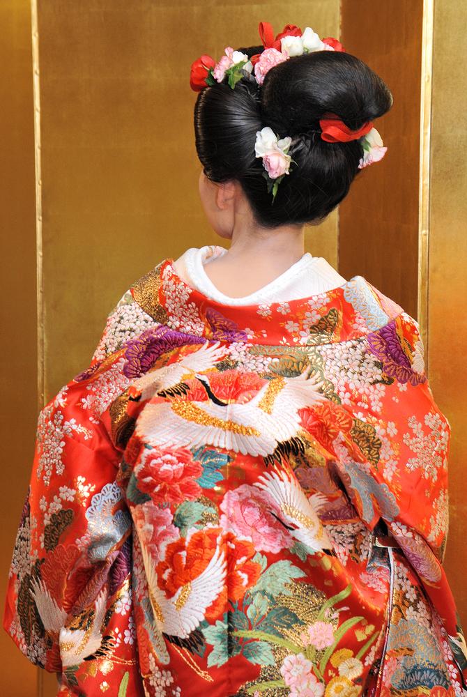 和装の日本髪