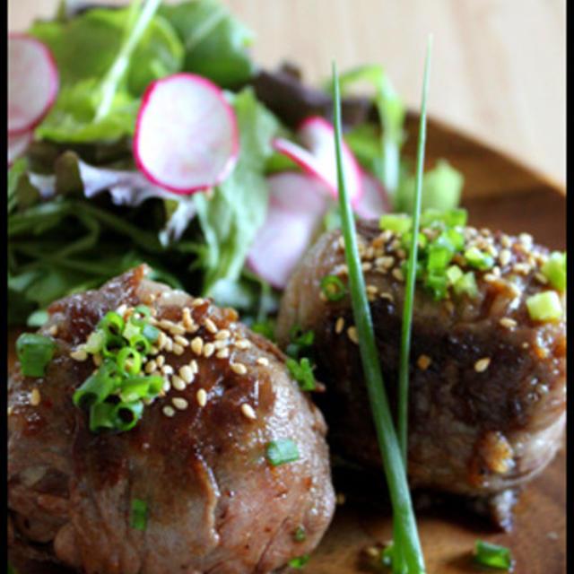 野菜たっぷりビビンバの肉巻きおにぎりのレシピ
