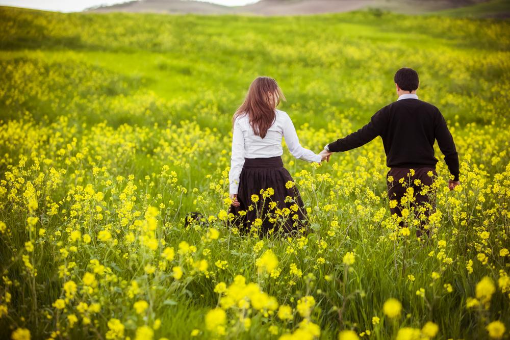 お花畑での理想のデート