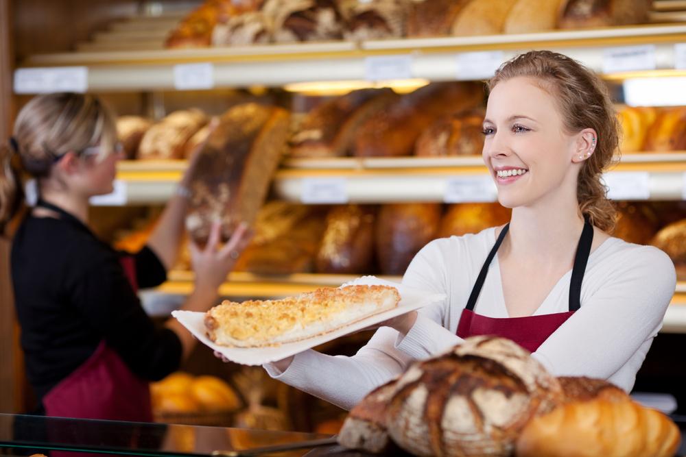 パン屋の女性
