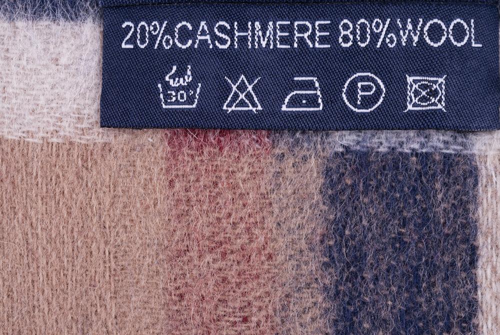 カシミヤニットの洗濯表示