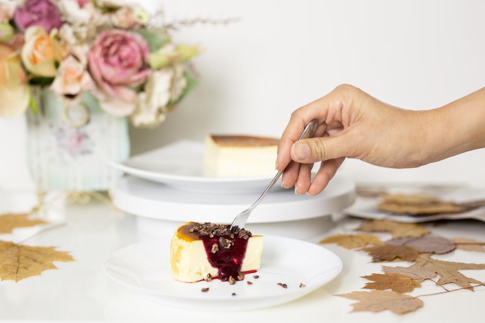 トッピングしたバスクチーズケーキ
