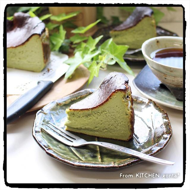 ついに作った?!バスク風チーズケーキお抹茶versionのレシピ