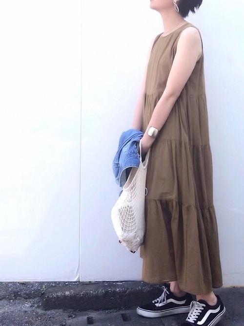 ワンピースを使った7月の服装
