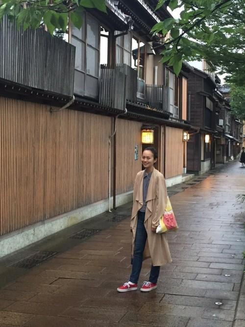 夏の金沢旅行のコーデ