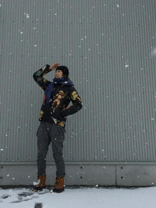 冬の金沢旅行のコーデ