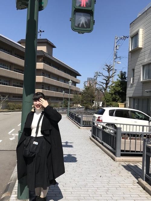 春の金沢旅行のコーデ