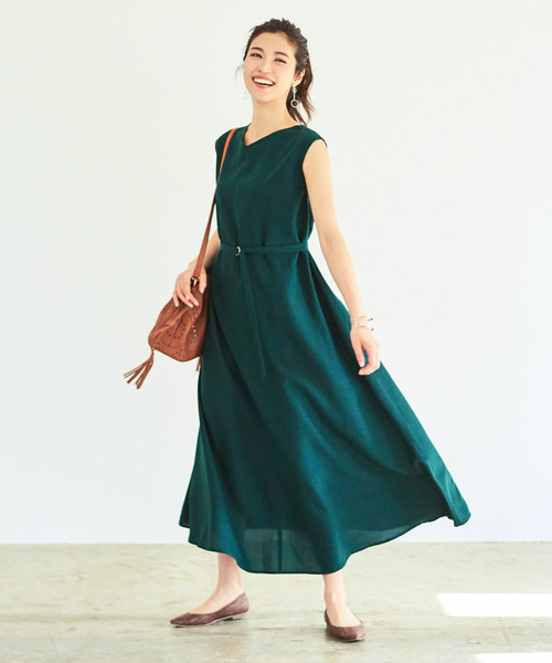 深緑のワンピース