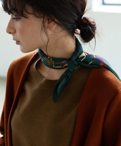 冬におすすめのスカーフの首巻き