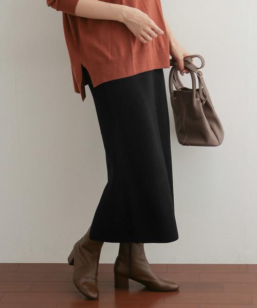 黒のニットスカート