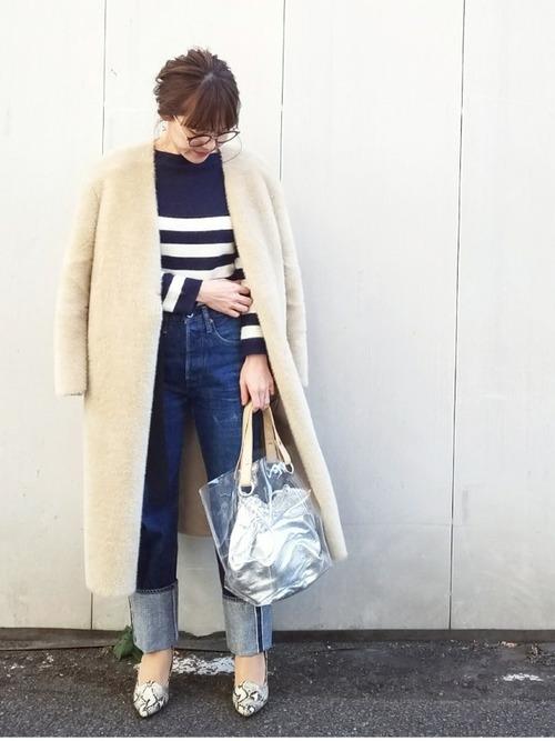 ロングコートを使った和歌山の服装