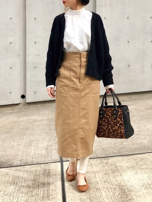 カーディガンを使った和歌山の服装