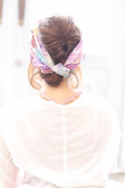 くるりんぱとスカーフ