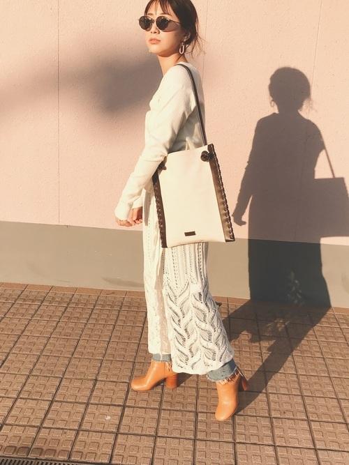 ボヘミアンなスカートを使ったコーデ