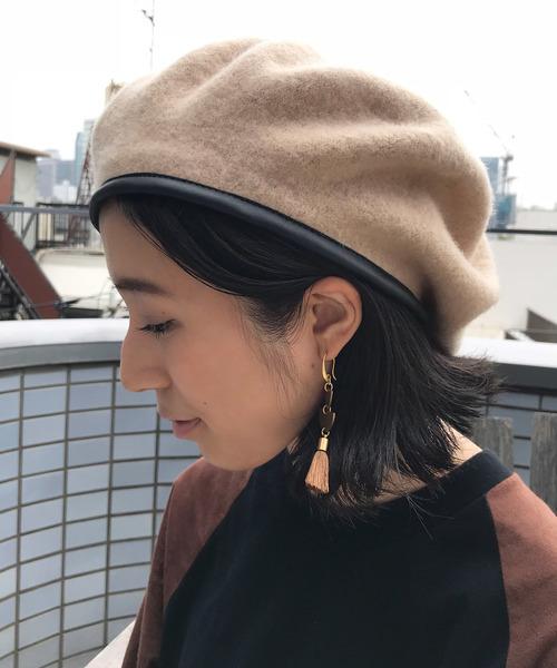 FREAK'S STOREのパイピングベレー帽