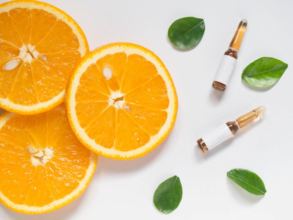 オレンジと美容液