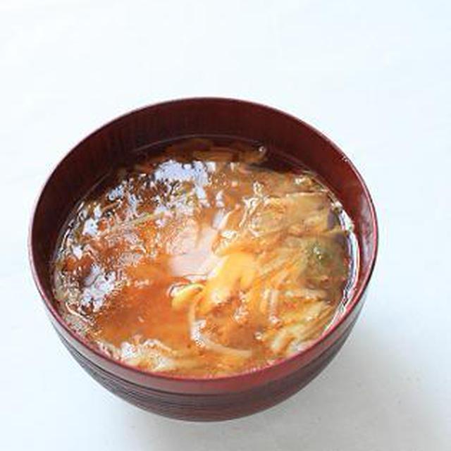 もやしとキムチとツナのお味噌汁。のレシピ