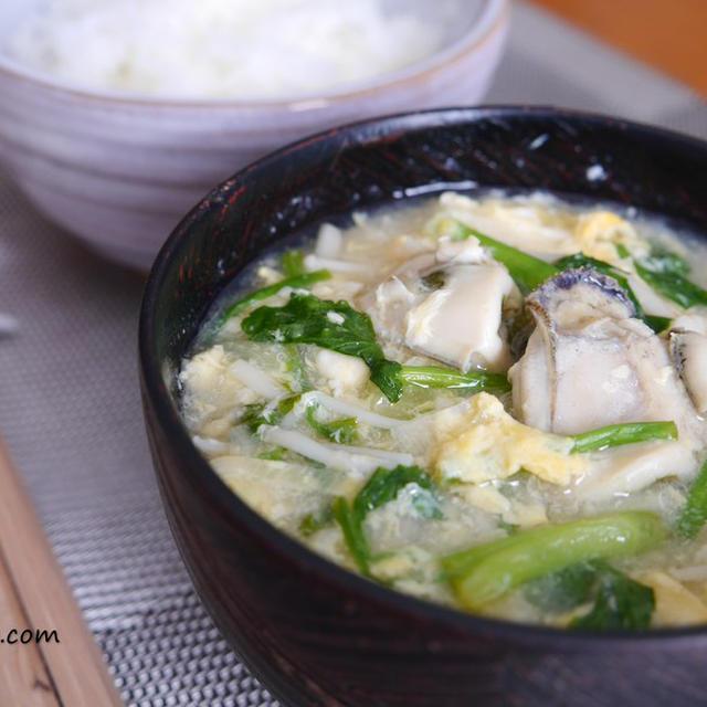 風邪予防にどうぞ。栄養満点!牡蠣の玉子汁のレシピ