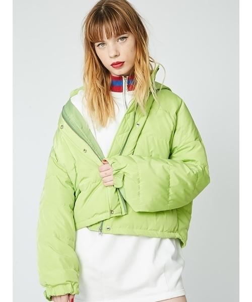 緑ジャケットの冬コーデ