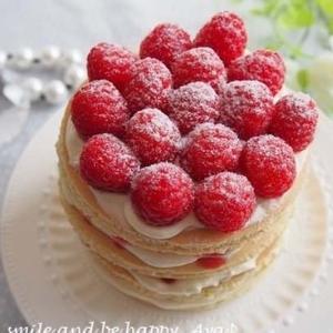 ホワイトチョコ&ラズベリーのパンケーキタワーのレシピ